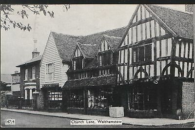 Postcard - View in Church Lane, Walthamstow, London. Posted in 1978.