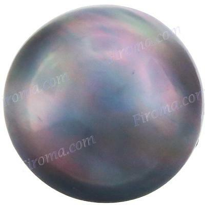 12MM 4CT BLUE GREY MABE SOUTH SEA LOOSE AAA pearl