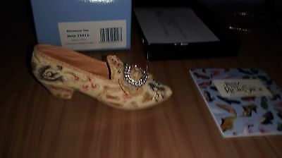 """Collectible Miniature """"Just the Right Shoe"""" by Raine - Afternoon Tea (Boxed)"""