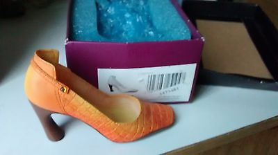 """Collectible Miniature Shoe """"Just the Right Shoe"""" by Raine - Later Gator (Boxed)"""