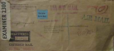 1941 U.s.a Censors Covers New York To London .3 Pics