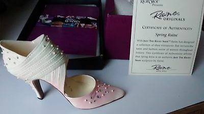 """Collectible Miniature Shoe """"Just the Right Shoe"""" by Raine - Spring Raine (Boxed)"""