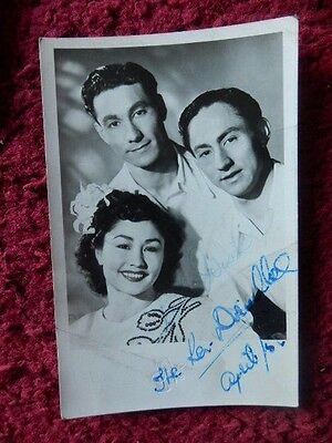 7 Theatre / Stage/ Music Hall Acts Photos Mostly Signed