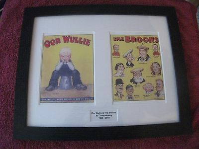 Oor Wullie & The Broons 80Th Anniversary Strips Frames 1936 - 2016
