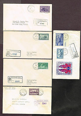 CANADA FDC's OTTAWA REGISTERED  AIRMAIL ETC  (MCH14