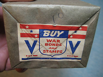 RARE! WW II Matchbox Package, Buy War Bonds, 10 Mint Boxes Wrapped 1940s
