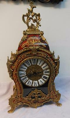 large boulle style mantel clock by imperial on 2 balls