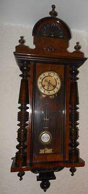 walnut cased vienna wall clock, c1900s