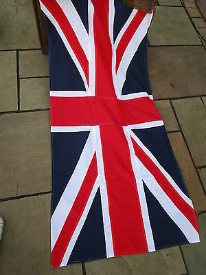 """Vintage Ex Govenment UNION JACK FLAG BRITISH MADE Approx 6ft  x 3ft 1"""" quality"""