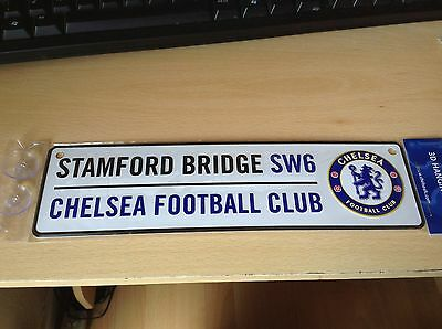 Brand new CHELSEA FC tin window sign.