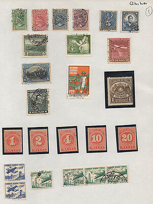 Chile page of  mounted mint &  used stamps (page 1).