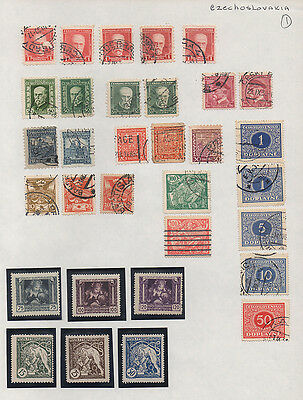 Czechoslovakia page of  mounted mint &  used stamps (page 1).