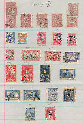 Turkey 2 pages of well mounted mint &  used stamps (pages 1 & 2).