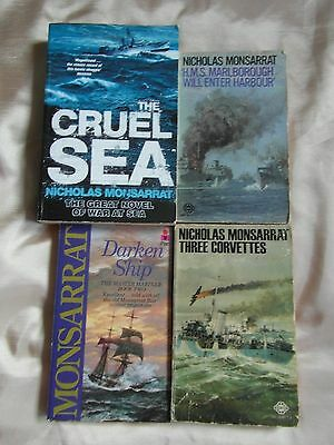 4 Rare Nicholas Monsarrat Paperback Books Naval Sea War