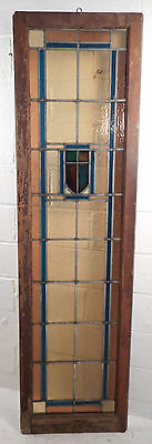 Tall Vintage Stained Glass Window Panel (1704)NJ