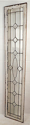 Tall Vintage Stained Glass Window Panel (1693)NJ