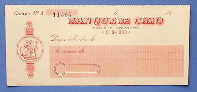 GREECE . CHEQUE FROM BANK CHIO. ( See the descriptions)
