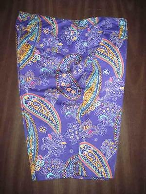 LOUDMOUTH womens purple paisley golf shorts size 4 waist 33