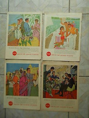 1957 Eight Coca Cola Magazine Ads Full Page