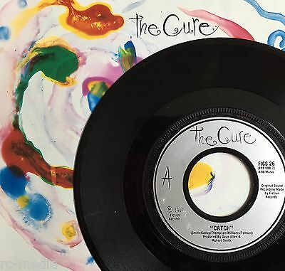 "THE CURE - Catch - Rare UK 7"" +Picture Sleeve /Silver labels (Vinyl Record)"