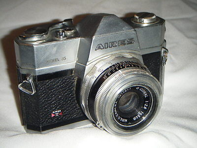 Very Rare Vintage AIRES Penta 35 SLR camera  with Coral 50mm f2.8 lens