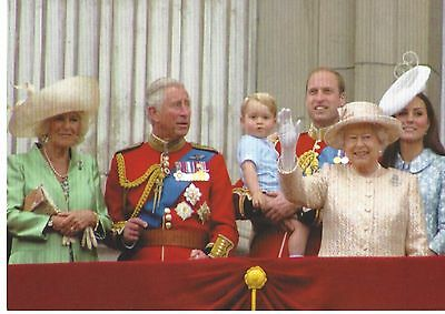 Prince George and royal family on palace balcony