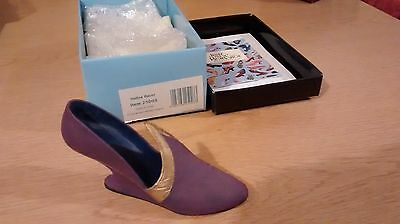 """Collectible Miniature """"Just the Right Shoe"""" by Raine - Italian Racer (Boxed)"""
