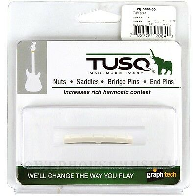 Graph Tech Tusq Slotted Nut For Fender Stratocaster Telecaster Guitar Strat Tele