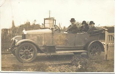 1920s Unidentified Vintage Car Unused RP Postcard