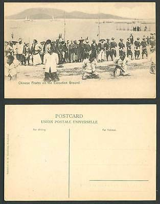 Hong Kong China Old Postcard CHINESE PIRATES on EXECUTION GROUND Canton Qing Dyn