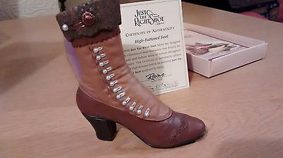 """Collectible Miniature """"Just the Right Shoe"""" by Raine - High Button Boot (Boxed)"""