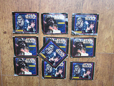 10 x 1996 SEALED PACKS OF PANINI STAR WARS TRADING CARDS: LUCAS FILMS: SCI-FI.
