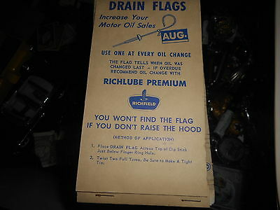 Vintage Atlantic Richfield Gasoline Oil Company drain flags dec