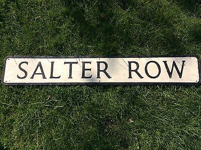 "40"" Genuine Victorian Iron Street Sign Mr Mrs Family Surname Salter Row Pub"