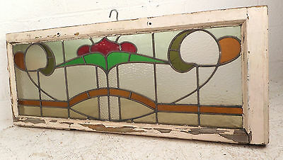 Vintage Stained Glass Window Panel (3222)NJ