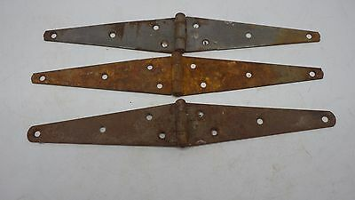 Vintage 3 Rusty Barn Door Gate Strap Steel Hinges Rustic Decor Old Barn Find 10