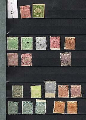 Two Pages  Fiji F-Vf Mh And Used Lot   (Nov18