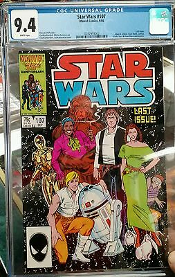Star Wars # 107 CGC 9.4 White  pages (Marvel, 1986) Scarce Last issue