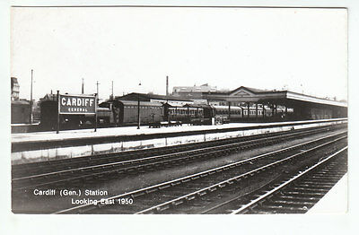 Cardiff General Railway Station Glamorgan 1960 Real Photograph Old Postcard