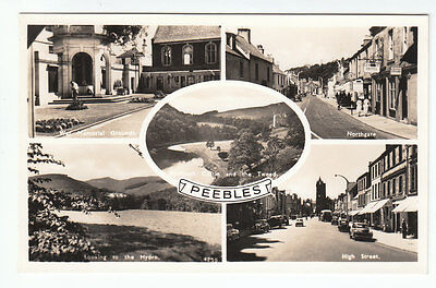 Peebles Northgate High Street War Memorial Hydro Grounds Real Photograph