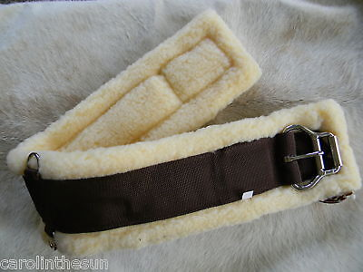 """Western Fleece Saddle Girth 34"""" Stainless Roller Buckle NEW Horse Tack"""