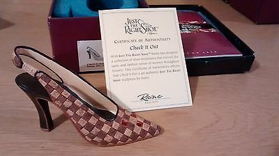 """Collectible Miniature Shoe """"Just the Right Shoe"""" by Raine - Check it Out (Boxed)"""