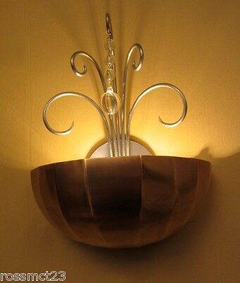 Vintage Lighting six matching 1930s copper wall lights