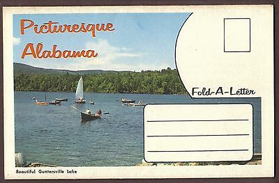 Greetings from Picturesque Alabama 6 view Fold-a-Letter ca. 1940s unposted