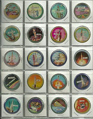 1960  Potato Chips Space Orbit Coins Complete Regular Set 60/60   Very Rare