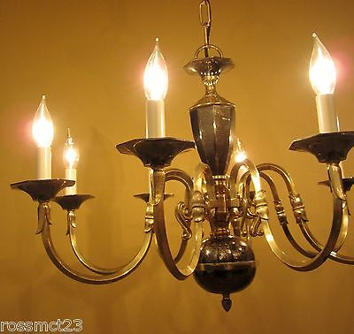 Large Colonial style chandelier 28 wide Eight arms More Available