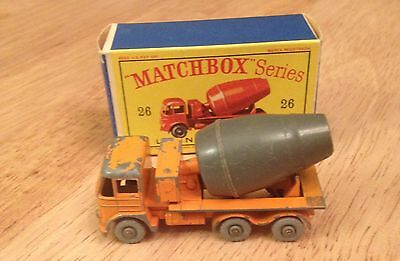 Very Rare matchbox lesney 26 GREY BARREL CEMENT LORRY With Original Box