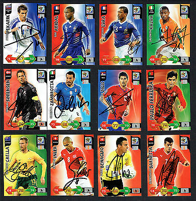21 different signed autographed 2010 Panini FIFA World Cup South Africa cards