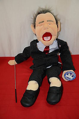 2004 President Puppet George Bush with tags Ventriloquist plush 30 inches  1344