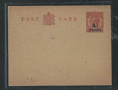 British Levant (P2307Bb)Kgv 4 1/2P/1 1/2D Psc Ovpt On Gb Small Card Card Unused